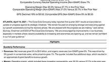 Coca-Cola Reports First Quarter 2021 Results