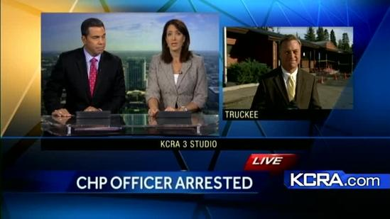 CHP officer arrested, charged with felony