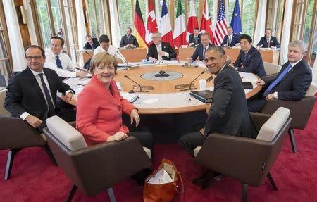 G7 leaders attend working meeting at G7 summit in Kruen