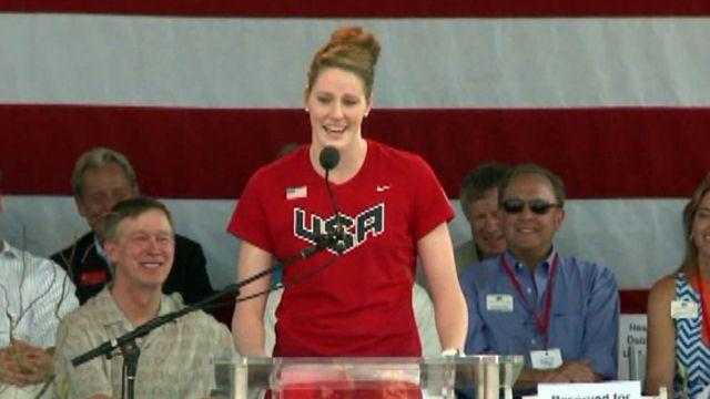 Colorado celebrates Olympians returning to their home state