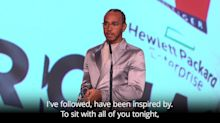 Lewis Hamilton wins Laureus World Sportsman of the Year Award with Lionel Messi