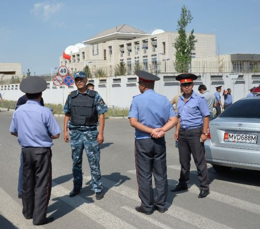 Three hurt in suicide blast at China's Kyrgyzstan embassy