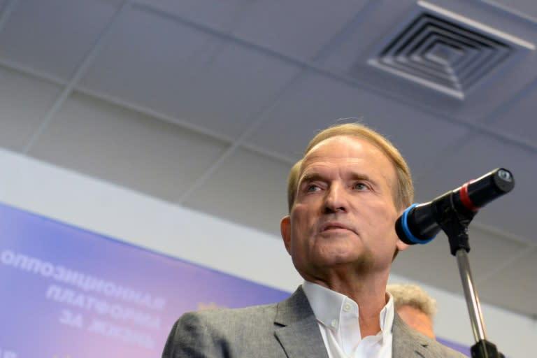 Ukraine's Opposition Platform-For Life party leader Viktor Medvedchuk is a close ally of Russian leader Vladimir Putin (AFP Photo/Vasily MAXIMOV)