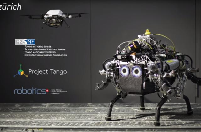 Four-legged bot uses drone sidekick to avoid rough terrain