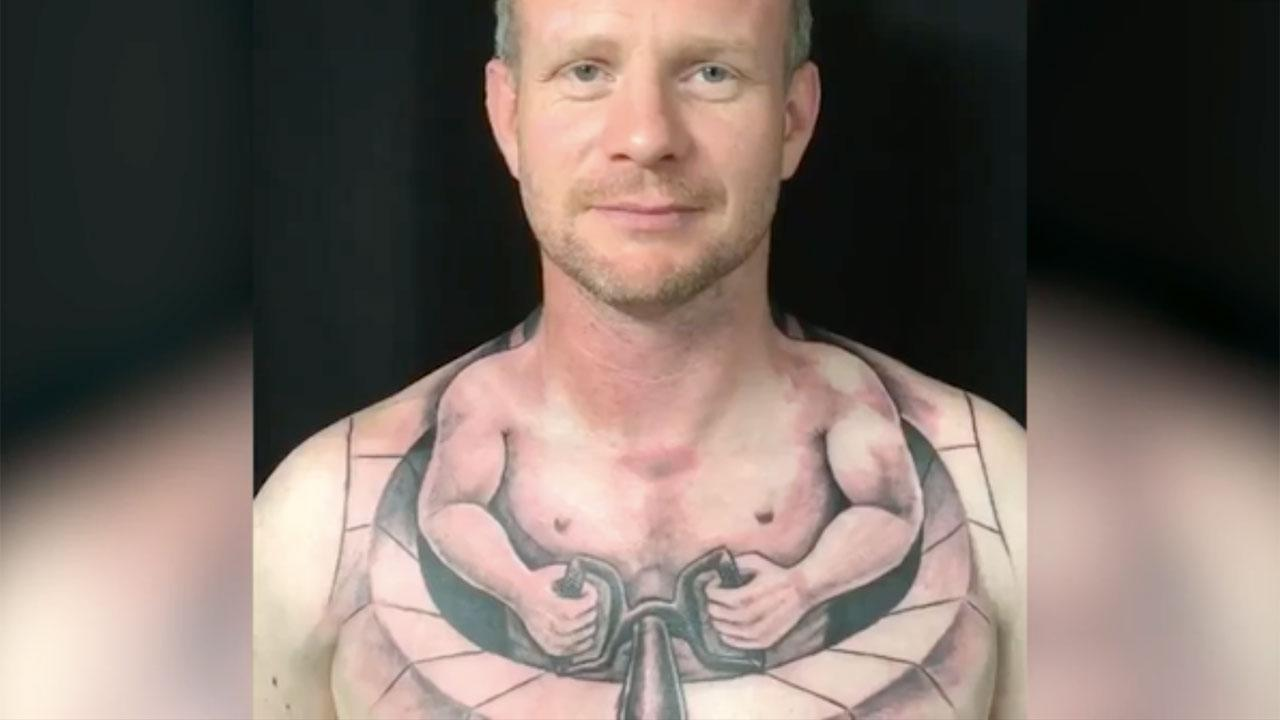 The crazy trucker's tattoo that has the internet in a spin