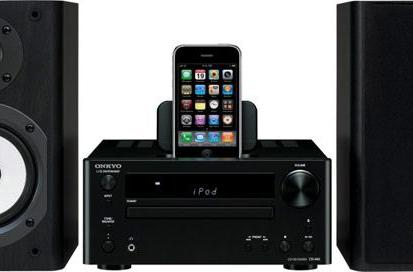 Onkyo's CS-V645 and CS-445 mini stereos offer iPod dock, a pinch of retro