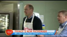 Prince William continues Diana's charity work