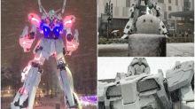 【台場大雪】真正白色獨角獸 雪中爆甲超有型