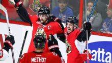 Fortunate bounce helps Karlsson lift Senators over Rangers in Game 1