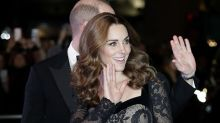 Kate Middleton, reina de la noche con un vestido negro de encaje