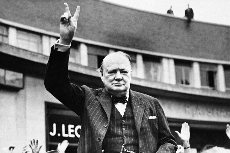 British politicians often evoke Churchill to add weight to their arguments, tapping into a deep attachment felt by many who lived through World War II (AFP Photo/)