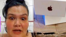 Thais Carla compra iPhone e recebe caixa vazia