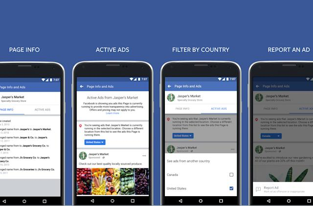Facebook is showing users all the ads a Page could serve