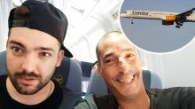 Father and son face $70K bill after trashing plane