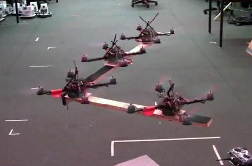 Revenge of the quadrocopters: now they move in packs (video)