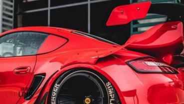 不是「青蛙」是「鱷魚」!Porsche Cayman超吸睛RWB「暴龜蛙」式樣
