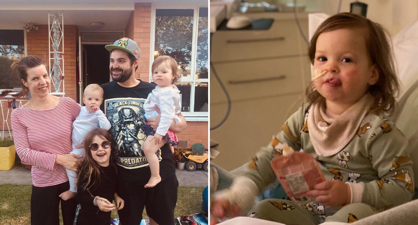 'Rock bottom': Family's struggle as daughter, 2, fights for her life