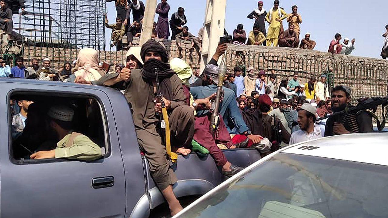 """Taliban leaders declared Monday """"the war is over,"""" after taking control of Afghanistan nearly 20 years on from the militant group fleeing a"""