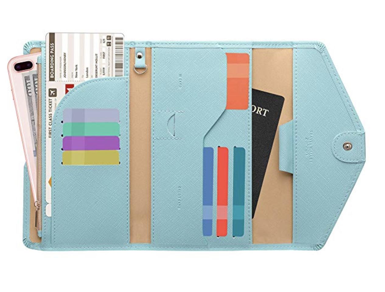 Zoppen Multi-Purpose Travel Passport Wallet and Document Organizer