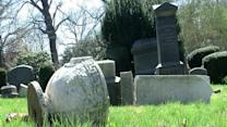 Vandals damage graves at Cuyahoga Falls cemetery