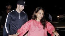 Pics: Priyanka and Nick Jonas leave India hand in hand