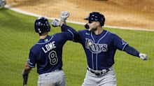 Meadows hits 2 HRs, Rays beat sloppy Angels 8-3