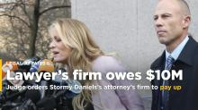 Judge orders law firm of Stormy Daniels' lawyer to pay $10M