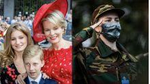 Las fotos de Isabel de Bélgica realizando el servicio militar