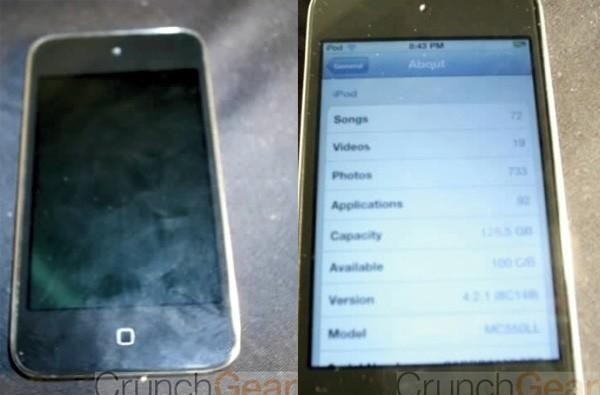 iPod touch prototype with capacitive home button leaked?