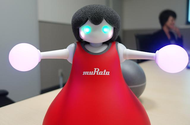 Murata's cheerleader robots move around on balls and do it in J-Pop unison