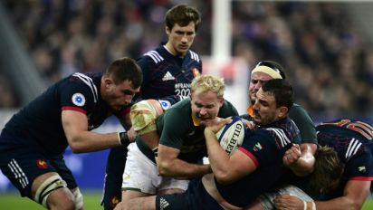 Rugby: le XV de France s'incline de nouveau, contre Afrique du Sud (17-18)