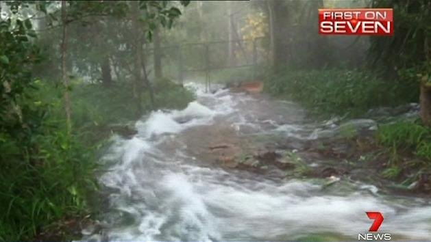 Family home becomes raging river