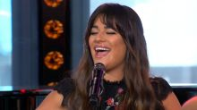 Lea Michele performs 'Anything's Possible' live on 'GMA'