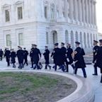 US Capitol briefly locked down; outside inauguration rehearsal evacuated because of nearby fire