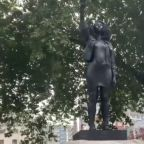 Statue of Anti-Racism Protester Placed on Edward Colston Plinth in Bristol