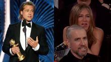 Brad Pitt faz piada sobre vida amorosa e Jennifer Aniston reage