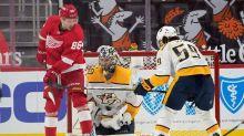 Rinne makes 24 saves as Predators beat Red Wings 2-0