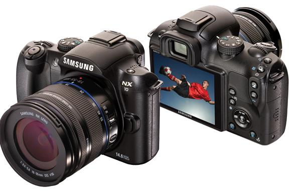 Samsung NX10 made official -- APS-C sensor and AMOLED screen crammed into hybrid DSLR body