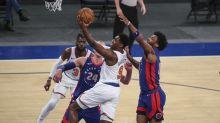 Randle, Knicks reach break over .500, beat Pistons 114-104