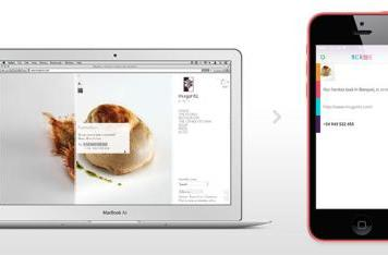 Scribe allows you to send text and images from your Mac to your iOS device