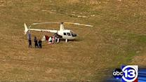 Helicopter makes emergency landing