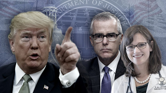 What's behind Trump's claims about McCabe's wife?