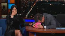 Nicki Minaj makes Stephen Colbert blush with seductive rap