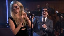 Gwyneth Paltrow Gets Sprayed in the Face with Water During a Karaoke Game with Jimmy Fallon