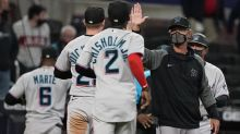 Aguilar's double lifts Marlins past Braves; Acuña 2 homers
