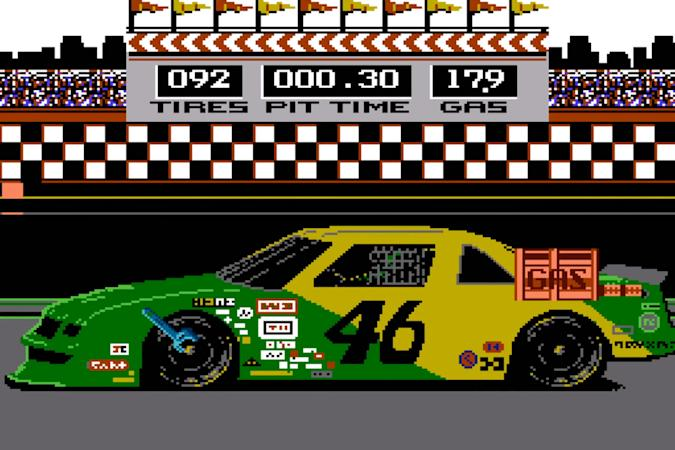 Pit stop in lost NES game 'Days of Thunder'