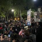 Peaceful Protesters Gather at New York City Hall Demanding Justice for George Floyd