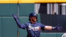 Big hits from Pache and Swanson lead Braves to 5-4 victory over Red Sox