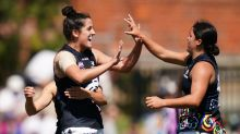 Blues bite back to beat Bulldogs in AFLW