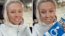 'It's really hard': Woman's powerful video after disabled parking confrontation